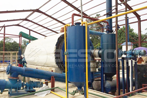 Beston Waste Plastic Pyrolysis Plant for Sale to Make Plastic Oil