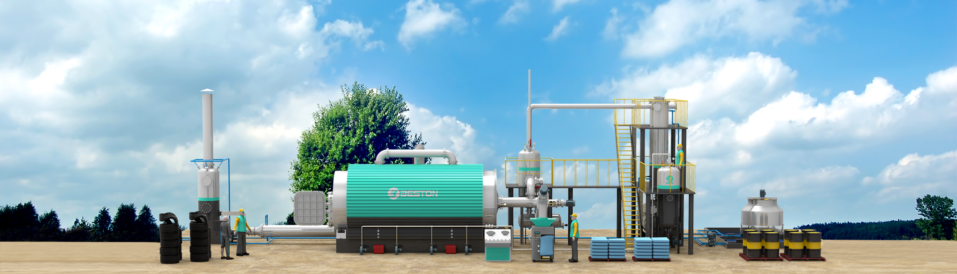 Waste Pyrolysis Plant Banner