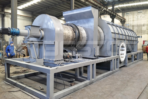 Beston Rice Husk Carbonizer with Combustible Gas Recycling System