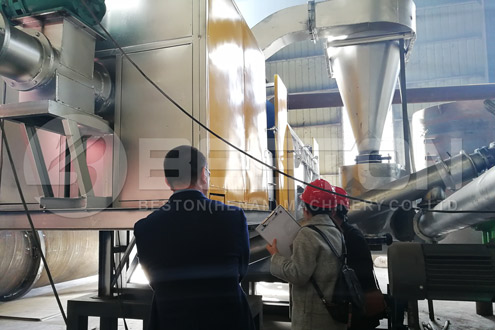 Indonesian customers saw charcoal making equipment