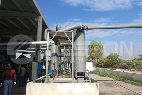 Installation of Rice Husk Charcoal Making Machine