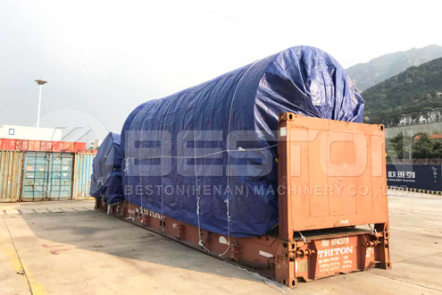 BLJ-16 Tire to Oil Machine Shipped to South Africa - Beston Group in Indonesia