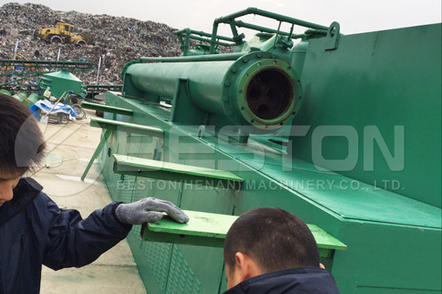 BLL-30 Waste Plastic Pyrolysis Machine Installed in Romania