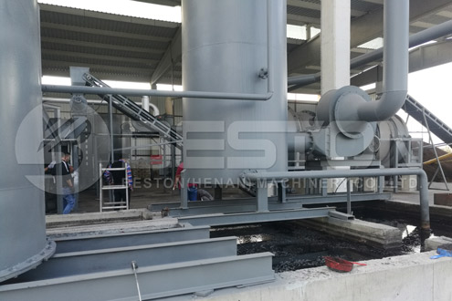 Installation of BST-50 Charcoal Making Plant