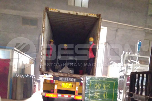 Shipment of BTF-4-8 Paper Tray Forming Machine
