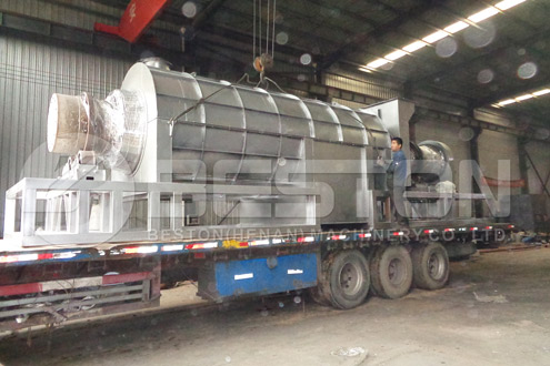 Bamboo Charcoal Equipement Was Shipped to Ghana