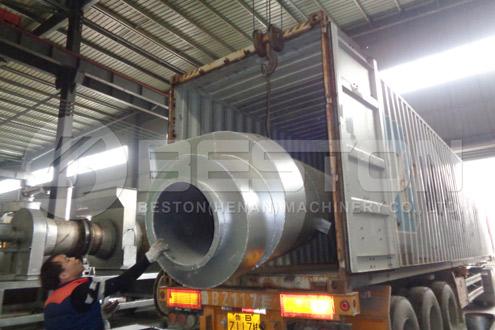 Shipment of Bamboo Charcoal Machine to Ghana