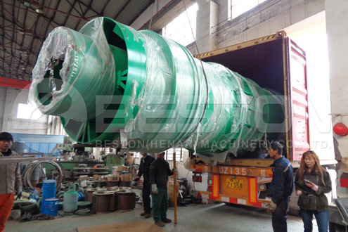 Charcoal Production Equipment Was Shipped to Spain