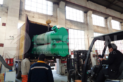 Shipment of Charcoal Making Equipment