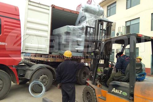 Shipment of Egg Tray Forming Machine