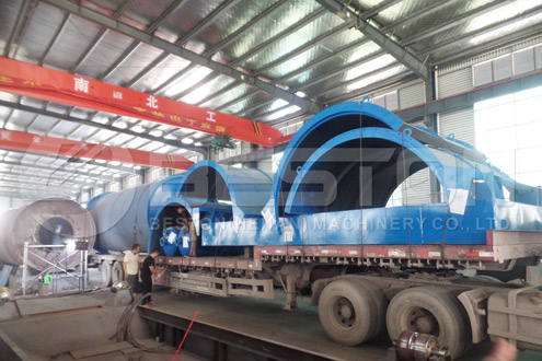 Tyre Recycling Machine Was Shipped to Nigeria