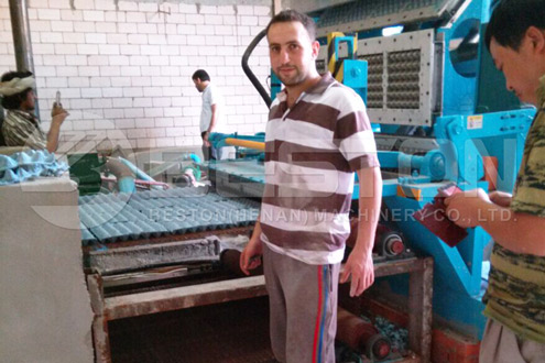 Customer of Egg Carton Machine in Saudi Arabia