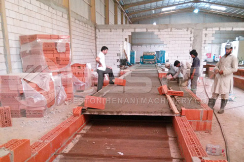 Dryer Building Process of Egg Crate Machine