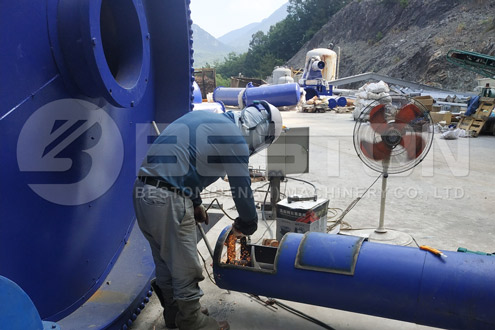 Installation of Tire Recycling Machine