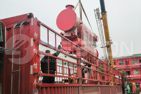 Shipment of Charcoal Production Equipment