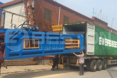 Shipment of Waste Management Machine to Hungary