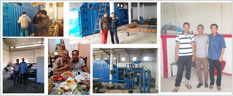 Egg Box Making Machine Installed in Algeria
