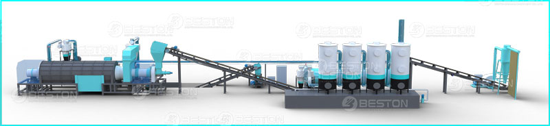 Beston Sawdust Charcoal Making Machine for Sale