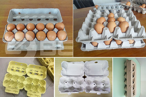 Paper Egg Trays Produced by Paper Egg Tray Making Machine